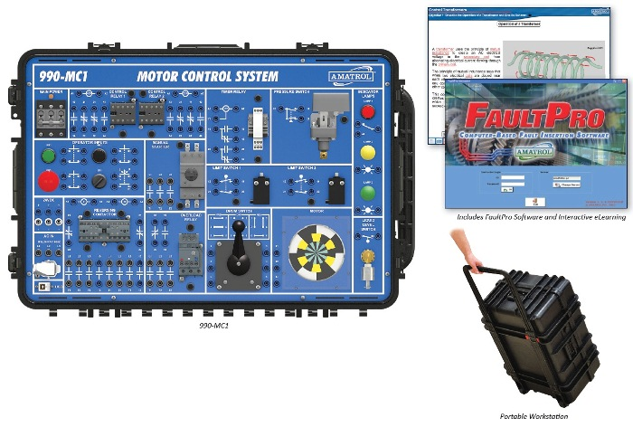 Portable Motor Control Troubleshooting Learning System Technical Training Aids