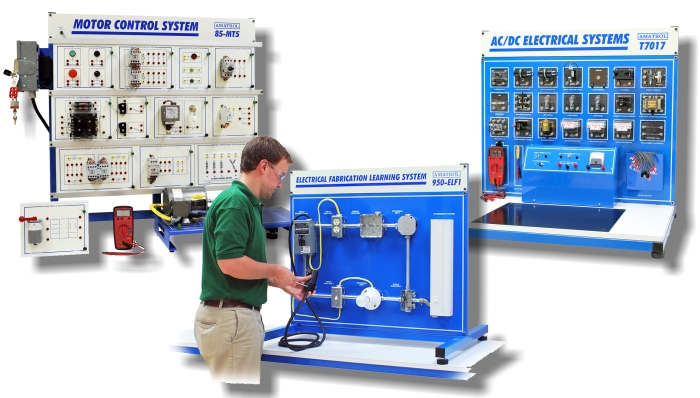 Electrical training systems technical training aids for Motor control wiring training
